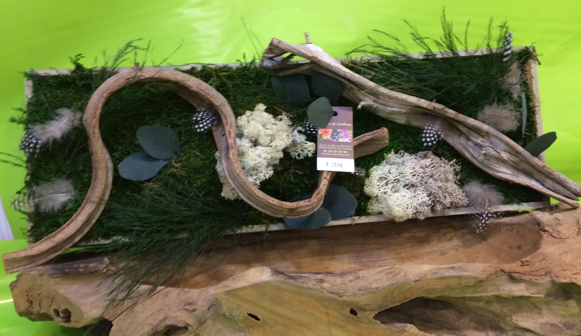 Fleurs de Conflans, les tableaux végétaux stabilisés